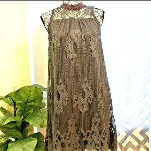 women gray color S size net mini dress by Maurices